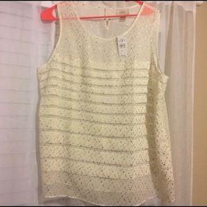 LOFT sleeveless blouse NWT